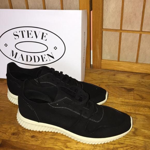 """5e27bfb7816 Men""""s Steve Madden Rolf Black sneakers NWT"""